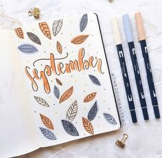 36 ideas para portadas de cada mes | Bullet Journal | annie's place⠀