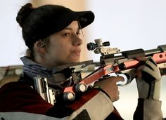 Petra Zublasing of Italy cmpetes in the 50m Rifle 3 Position qualifying match on Day 6 of the Rio 2016 Olympics at the Olympic Shooting Centre on August 11, 2016 in Rio de Janeiro, Brazil.