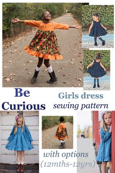 Kids Clothes Patterns, Sewing Patterns Girls, Clothing Patterns, Little Girl Outfits, Toddler Outfits, Outfits For Teens, Lovely Dresses, Modest Dresses, Girls Dresses