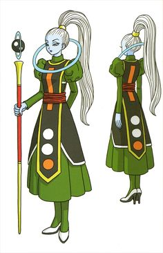 Vados- Similar to Whis, she looks reserved like Whis and kinda evil. Wonder what role she'll have in Dragonball Super. Dragon Ball Gt, Dragon Ball Z Shirt, Akira, Dbz Characters, League Of Legends Characters, Japanese Show, Broly Movie, Nerd Love, Chica Anime Manga
