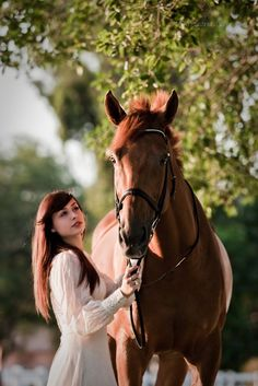 Sweet horse and lady.
