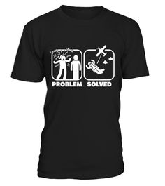 Problem, Skydiving solved  Funny Disability T-shirt, Best Disability T-shirt
