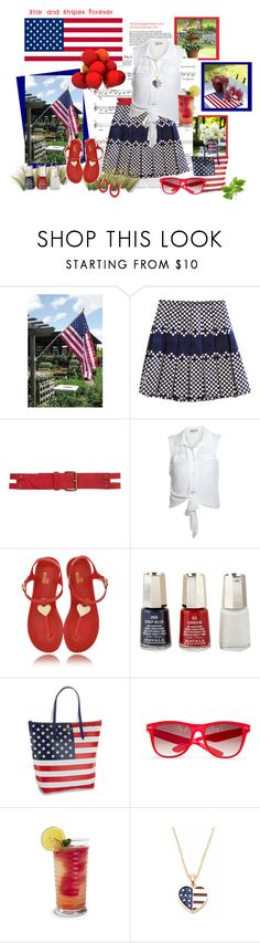 """""""Stars and Stripes Forever"""" by berry1975 ❤ liked on Polyvore featuring CO, Sea, New York, Cameo Rose, Love Moschino, Mavala, Lacoste, MANGO, Andrew Hamilton Crawford and contest"""