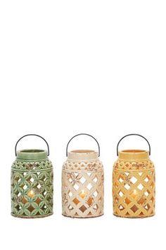 Ceramic Lanterns - Set of 3