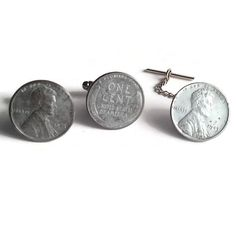 A personal favorite from my Etsy shop https://www.etsy.com/listing/93196472/1943-steel-lincoln-wheat-penny-cufflinks
