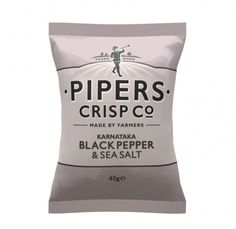 Pipers Crisp Chips Karnataka zwarte peper & zeezout  SHOP ONLINE: https://www.purelifestyle.be/pipers-crisp-chips-karnataka-zwarte-peper-zeezout.html