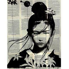 Drawing Portraits - Narumi © Loui Jover - Discover The Secrets Of Drawing Realistic Pencil Portraits.Let Me Show You How You Too Can Draw Realistic Pencil Portraits With My Truly Step-by-Step Guide. Art And Illustration, Journal D'art, Pop Art, L'art Du Portrait, Newspaper Art, Art Japonais, Inspiration Art, Art Drawings, Drawing Portraits