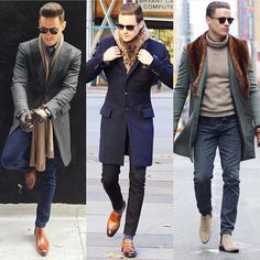 - with business casual fall ideas with boots loafers topcoats scarfs Mode Masculine, Mens Fashion Suits, Mens Suits, Fashion Vest, Preppy Fashion, Fashion Menswear, Fashion Photo, Look Casual Hombre, Big And Tall Style