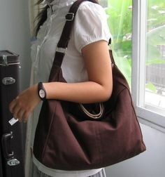 Hey, I found this really awesome Etsy listing at https://www.etsy.com/listing/57671947/sale-chocolate-cotton-twill-hobo-bag