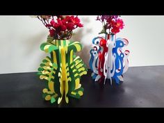 DIY Paper Flower Vase | How To Make A Paper Flower Vase Very Easy And Simple Steps | - YouTube