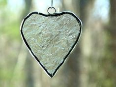 Stained glass mini heart suncatcher  #Valentine #heart by DesignsStainedGlass #EtsyGifts #love #unique