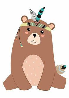 Items similar to Bear Printable Bear Nursery Art Bear Print Brown Bear Bear Art Baby Bear Cub Art Bear Illustration Tribal Nursery Print Tribal Print on Etsy party Tribal Nursery, Bear Nursery, Woodland Nursery, Brown Nursery, Illustration Mignonne, Bear Illustration, Nursery Prints, Nursery Wall Art, Nursery Decor