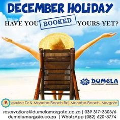 After our national lockdown, we think you owe it to yourself to book your dream December holiday!  STOP what you are doing and book TODAY! View our self catering accommodation units on our website. Link in bio.  reservations@dumelamargate.co.za | 039 317-3303/6 | we are also available on WhatsApp (082) 620-8774 during office hours only | Book Online on our website. Link in bio.  #dontcancelpostpone #21dayslockdown #WhereToStay #holiday #travel #vacation #love #instagood #trip #travelgram…