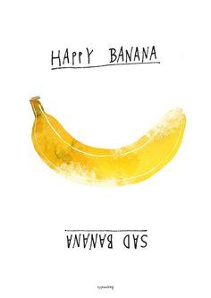 Kunstdruck Poster / Stimmungsposter Banana - typealive - Plakaty typograficzne