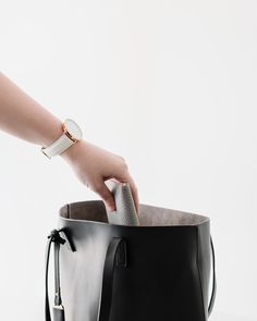 Only carry the essentials with them simple black tote bag. Black Tote, Pu Leather, Essentials, Tote Bag, Simple, Bags, Handbags, Carry Bag, Taschen