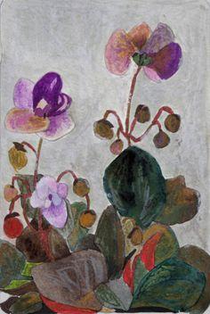 "benita-loca:    Bénédicte Garnier-Fihey""Les petites fleurs mauves""Oil Pastel"