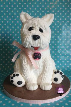 Dog Cake - shaped and sculpted - Cowan Cakes