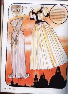 Cissy doll by Madame Alexander, drawn by Jim Howard... I love the clothes, hate the doll