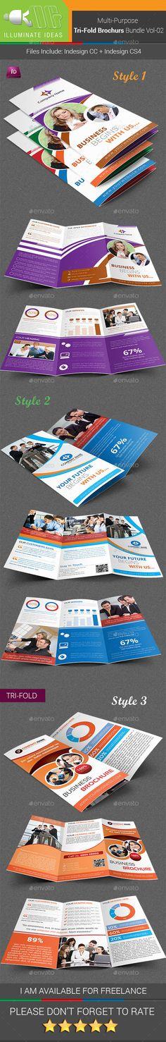 Multipurpose Tri-Fold Brochures Bundle Template #design Download: http://graphicriver.net/item/multipurpose-trifold-brochures-bundle-vol02/11658663?ref=ksioks