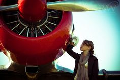 Fashion takes flight :: vintage airplane photo shoot