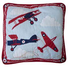 Vintage Plane Cushion Cover