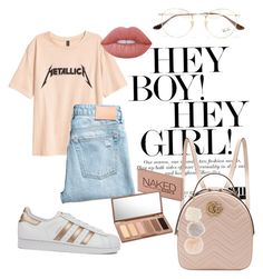 """""""Без названия #51"""" by t-elks on Polyvore featuring мода, adidas, Gucci, Ray-Ban, Lime Crime и Urban Decay"""