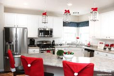 Christmas kitchen makeover. Perfectly, warm, snuggly, and inviting.