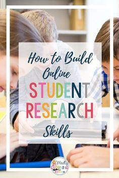 Students use the internet in their daily lives all the - so teach them how! Click through to learn how you can teach your students online research skills that will stick with them for their entire lives.