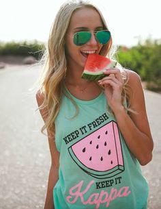 Kappa Kappa Gamma watermelon tank made by 224 Apparel