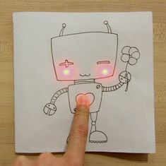 5 Free Templates - Paper circuits are a creative way to teach electricity & circuits. Perfect #MakerED project for a school or library makerspace.