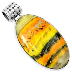 Indonesian Bumble Bee 925 Sterling Silver Pendant Jewelry 6596P