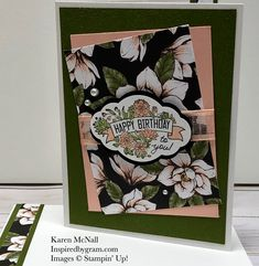#simplestamping Saturday with this gorgeous card from #Inspired By Gram.