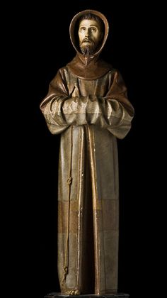 Pedro de Mena, Saint Francis Standing in Meditation, 1663 -Alfonso Espinosa Francis Of Assisi, St Francis, Baroque Sculpture, The Cross Of Christ, Spanish Art, Galleries In London, National Gallery Of Art, Rustic Art, Religious Art