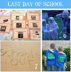 Cute ideas for celebrating the end of the school year with your kiddos!