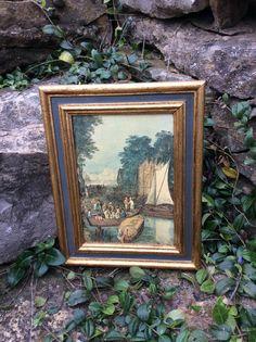 Vintage Florentia Wood Framed Coastal Italian by YellowHouseDecor