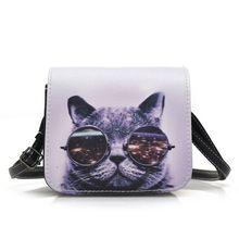 Fashion Cat Design Women's Messenger Bag Fashion Quality Female Purse Bag Handbag Ladies Crossbody bags Shoulder Bags //Price: $US $4.68 & FREE Shipping //     #fashion