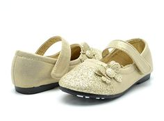Dream Pairs CRYSTAL-1 Mary Jane Velcro Butterfly Glitter Ballerina Flat (Toddler/ Little Girl) New Gold Size 5 - http://all-shoes-online.com/dream-pairs/5-m-us-toddler-dream-pairs-angel-5-adorable-mary-bow-4