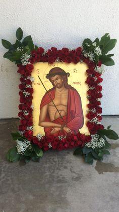 Icon of the Bridegroom - St. Crucifixion Of Jesus, Jesus Christ, Orthodox Easter, Church Flowers, Holy Week, Flower Arrangements, Catholic, Saints, Mary