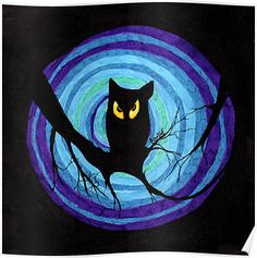 """time for child stories: the EVIL OWL"" Posters by ROUBLE RUST 