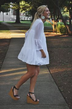 Flowy white dress