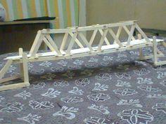 Picture of Bridge prototype using ice-cream sticks