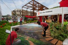street painting gallery - Street Painting and Anamorphic Art by Chalk Artist Cuboliquido 3d Street Painting, 3d Street Art, Painting Gallery, Art Gallery, Chalk Artist, Pavement Art, Venice Florida, Pond Design, Anamorphic
