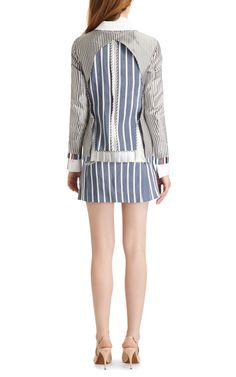 Linen-and-Silk Striped Jacket by Thom Browne 2014