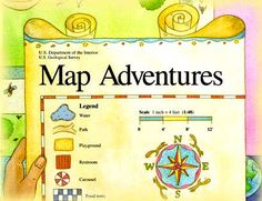 Free - Map Adventures, with 7 lessons, is appropriate for grades K-3. Students will learn basic concepts for visualizing objects from different perspectives and how to understand /and use maps. Be sure to grab the free 15 printables here too that go along with these 7 lesson plans.    http://egsc.usgs.gov/isb/pubs/teachers-packets/mapadventures/repro.html