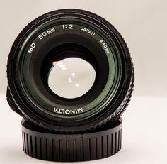 Crystal Clear Minolta 50mm f2.0 Manual Focus PRIME Lens 4 SONY a6300 NEX or 4/3 #Minolta