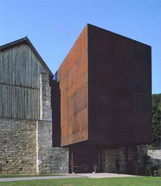 View full picture gallery of Musée Du Sel De Salins-les-Bains Conservation Architecture, Adaptive Reuse, Small Buildings, Corten Steel, Architecture Old, Built Environment, Bauhaus, Construction, Exterior
