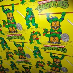 TMNT wrapping paper ^.^
