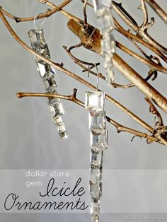 Easy Gem Icicle Ornaments – Mad in Crafts