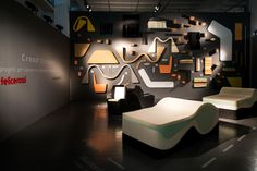 """Felicerossi's """"Crosspollination"""" Project started to show Step 1 at Trienale Milano: 3 future designs for the office, combing newest innovations in foam. Designers: Jacco Bregonje, No Picnic & Riccardo Giovanetti"""