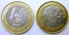 Moedas mais raras e caras do Real - 1 Lugar - Moeda de 1R$ da Declaração… World Coins, Rare Coins, Coin Collecting, Euro, Internet, Google, Silver Coins, Notes, Coining
